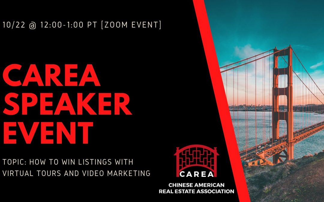 10/22 @ 12PM – How to Win Listings with Virtual Tours & Video Marketing