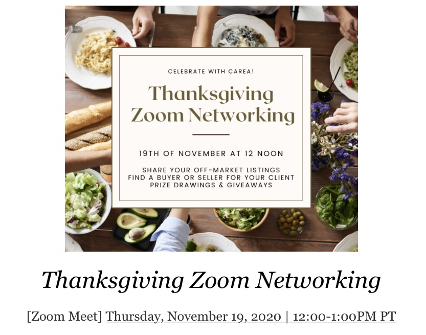 Thanks Giving Zoomnetworking
